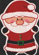 Карты формы Санта Клауса