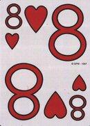 8 hearts